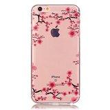 Doorzichtig Bloesem iPhone 6 6s TPU hoesje - Roze_