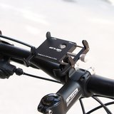 Universele Aluminium telefoonhouder Pro 2 voor op de fiets - Zwart _