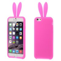 Roze Bunny hoesje iPhone 6/6s konijn silicone cover