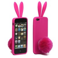 Roze Bunny hoesje iPhone 5/5s Konijn silicone cover
