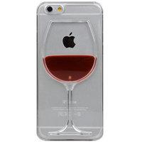 Doorzichtige hardcase cover Wijnhoesje iPhone 6 6s Wijnglas - Rood - Wijn