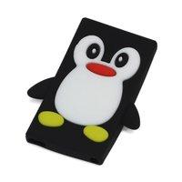 Zwart Pinguin hoesje iPod Nano 7 silicone 3D