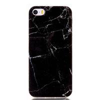 iPhone 5, 5s en SE zwart marmer TPU hoesje