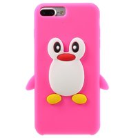 Roze pinguin 3D hoesje iPhone 7 Plus 8 Plus