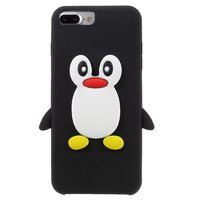 Zwarte pinguin 3D hoesje iPhone 7 Plus 8 Plus