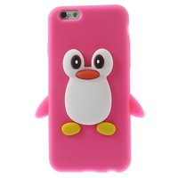 Roze pinguïn 3D hoesje iPhone 6 6s cover