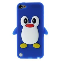 Pinguin iPod Touch 5 6 hoesje penguin blauw silicone 3d