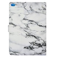 Marmer hoes marble case iPad 2017 2018 - Wit Grijs