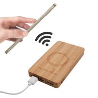Universele N9 Bamboo Powerbank 6000 mAh Qi wireless charging - Hout