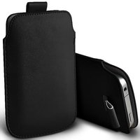 Zwart Leder Insteekhoesje iPhone & iPod Touch Pouch