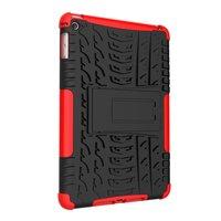 Bandprofiel hoes grip kickstand TPU kunststof iPad mini 4 5 Case - Rood