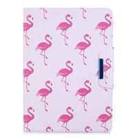 Flamingo flipcase leder hoes standaard iPad 2017 2018 - Wit Roze