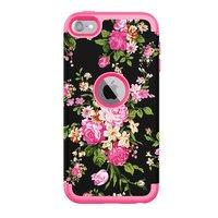 Armor Flower Hoesje iPod Touch 5 6 7 - Kleurrijke Bloemen