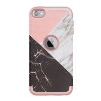Armor Hoesje Marmer Hoesje iPod Touch 5 6 7 - Roze en wit