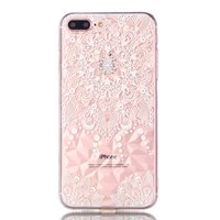 Mandala Diamanten look Hoesje iPhone 7 Plus 8 Plus - Transparant