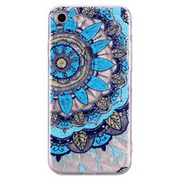Mandala Diamanten look Hoesje iPhone 7 8 - Blauw