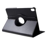 Lederen Litchi Grain iPad Pro 12.9-inch 2018 Hoes Draaibare Case met Cover - Zwart