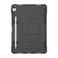 Hybride TPU Polycarbonaat iPad Pro 11-inch 2018 Case Hoes - Profiel Zwart Standaard