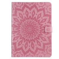 Zonnebloem Lederen iPad Pro 11-inch 2018 Case Hoes Wallet - Roze