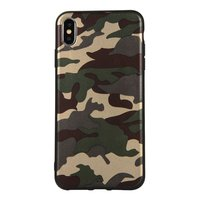 Camouflage TPU camo hoesje leger iPhone XS Max - Army Groen