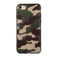 Camouflage TPU camo hoesje leger iPhone 7 8 - Army Groen