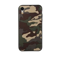 Camouflage TPU camo hoesje leger iPhone XR - Army Groen