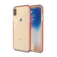 Beschermend gekleurde rand hoesje iPhone XS Max Case TPE TPU back cover - Oranje