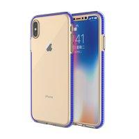 Beschermend gekleurde rand hoesje iPhone XS Max Case TPE TPU back cover - Blauw