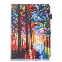 Bos artistiek schilderij leder flipcase beschermhoes iPad mini 1 2 3 4 5 - Kleurrijk