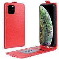 Verticale Flip kunstleer wallet hoesje iPhone 11 Pro case - Rood