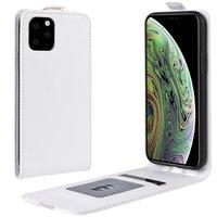 Verticale Flip kunstleer wallet hoesje iPhone 11 Pro case - Wit
