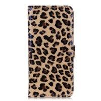 Luipaard hoesje panter wallet bookcase iPhone 11 Pro - Bruin