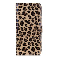 Luipaard hoesje panter wallet bookcase iPhone 11 - Bruin