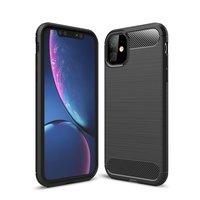 Carbon Armor beschermhoes shockproof TPU iPhone 11 - Zwart