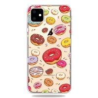 Vrolijk Flexibel Donuts Hoesje iPhone 11 TPU case - Doorzichtig