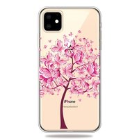 Warm Flexibel Vlinderboom Vlinders Boom Roze Hoesje iPhone 11 TPU case - Doorzichtig