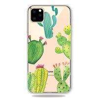 Vrolijk Flexibel Cactus Hoesje iPhone 11 Pro TPU case - Doorzichtig