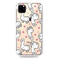Dieren Eigenwijs Alpaca Hartjes Hoesje iPhone 11 Pro TPU case - Doorzichtig