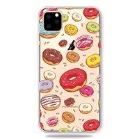 Vrolijk Flexibel Donuts Hoesje iPhone 11 Pro Max TPU case - Doorzichtig