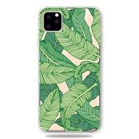 Natuur Groen Bladeren Bananenplant Jungle Hoesje iPhone 11 Pro Max TPU case - Doorzichtig