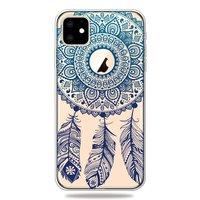 Dromenvanger Mandala Web Blauw Veertjes Spiritueel Hoesje iPhone 11 TPU case - Doorzichtig