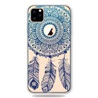 Dromenvanger Mandala Web Blauw Veertjes Spiritueel Hoesje iPhone 11 Pro Max TPU case - Doorzichtig