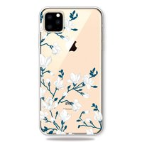 Bloemen wit hoesje TPU bloesem iPhone 11 Pro Max - Doorzichtig