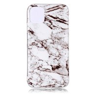 Marmer Patroon Natuursteen Wit Hoesje Case iPhone 11