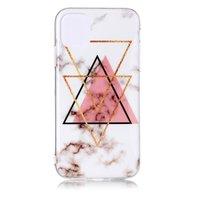 Marmer Patroon Driehoek Goud Roze Zwart Figuur Creatief iPhone 11 Pro TPU case