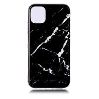 Marmer Patroon Natuursteen Zwart Hoesje Case iPhone 11 Pro