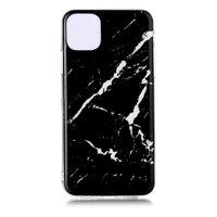 Marmer Patroon Natuursteen Zwart Hoesje Case iPhone 11 Pro Max