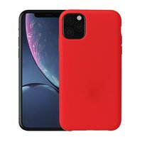 Zacht Silky iPhone 11 Pro Max Red Case TPU hoesje - Rood
