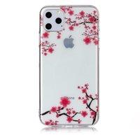 Bloemen Roze Takken Natuur Hoesje Case TPU iPhone 11 Pro Max- Transparant