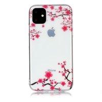Bloemen Roze Takken Natuur Hoesje Case TPU iPhone 11 - Transparant